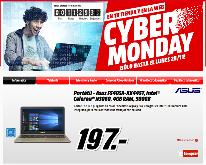 Cyber Monday ofertas Media Markt
