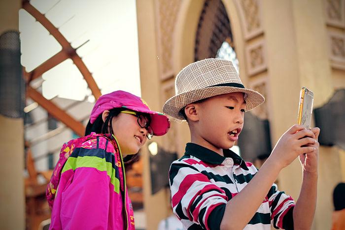 tiempo redes sociales niños chinos