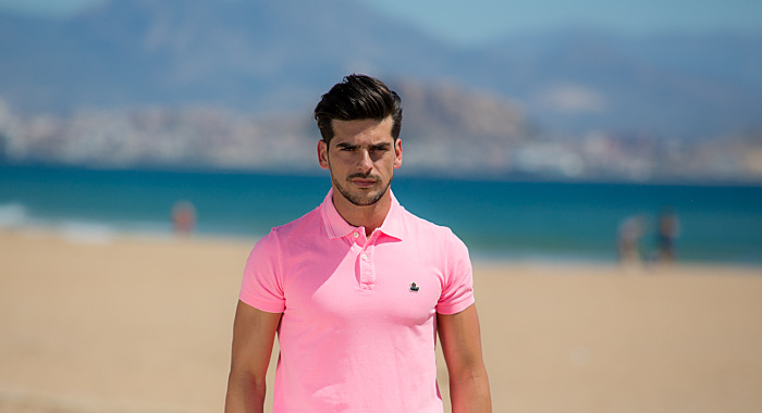 The Rubber Duck polo hombre rose fluor pato brilla