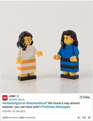 Real Time Marketign ejemplo lego tweet vestido
