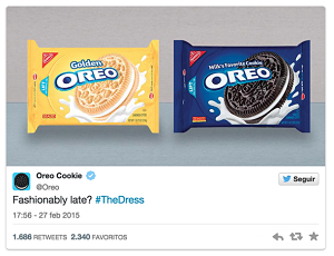 Real Time Marketing oreo ejemplo vestido